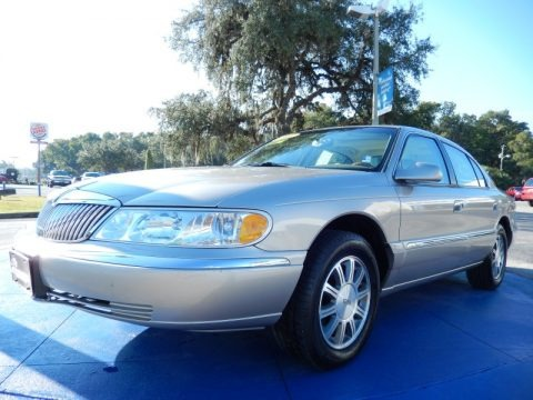Light Parchment Gold Metallic 2001 Lincoln Continental