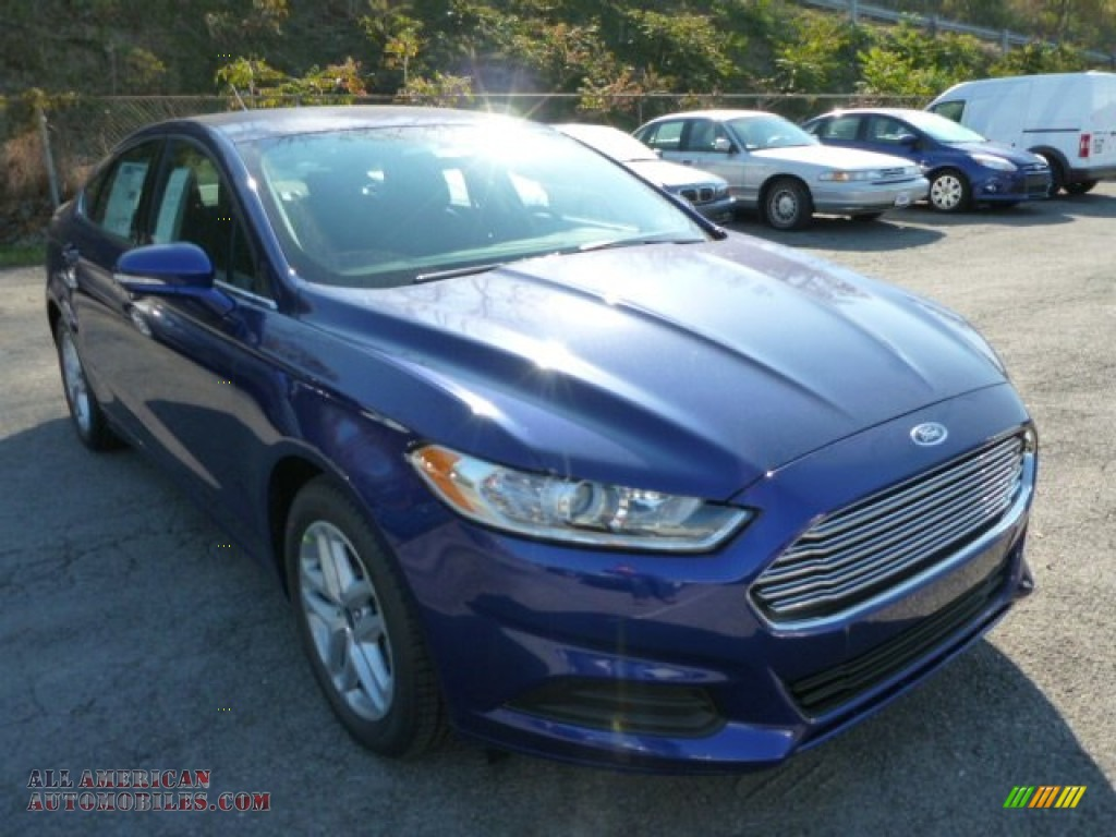 2014 ford fusion se ecoboost in deep impact blue 360325 all american automobiles buy. Black Bedroom Furniture Sets. Home Design Ideas