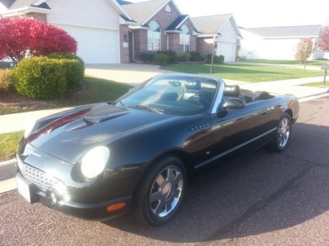Evening Black 2003 Ford Thunderbird Premium Roadster