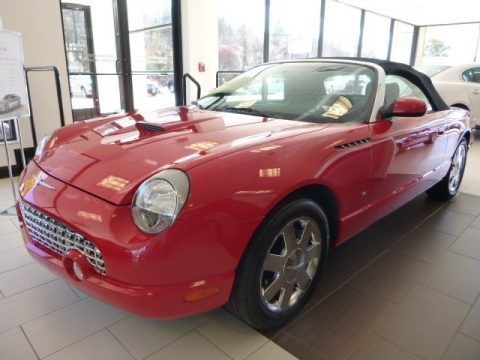 Torch Red 2003 Ford Thunderbird Premium Roadster
