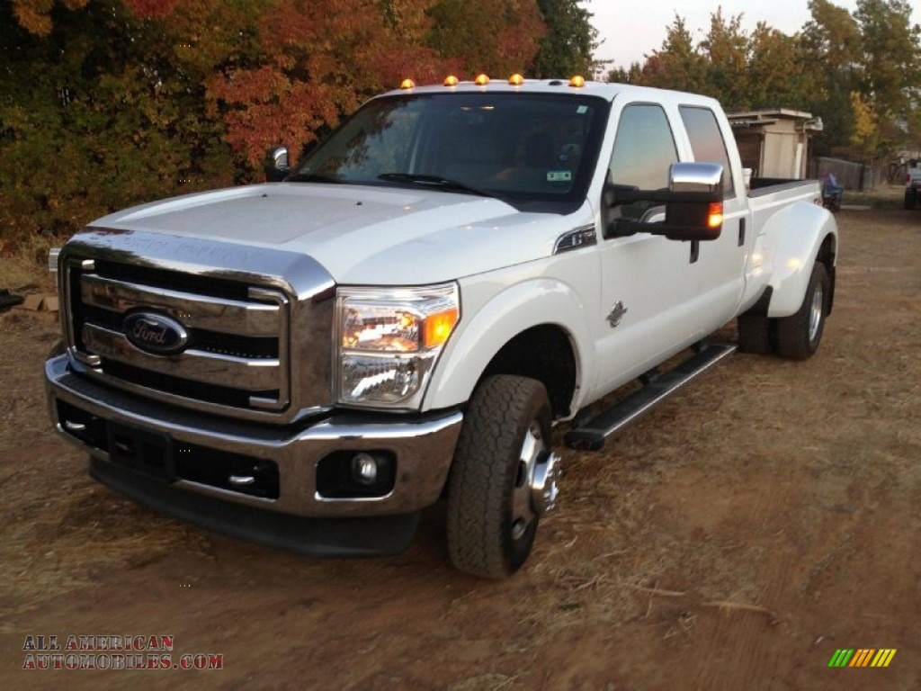 2011 ford f350 super duty xlt crew cab 4x4 dually in oxford white b45240 all american. Black Bedroom Furniture Sets. Home Design Ideas