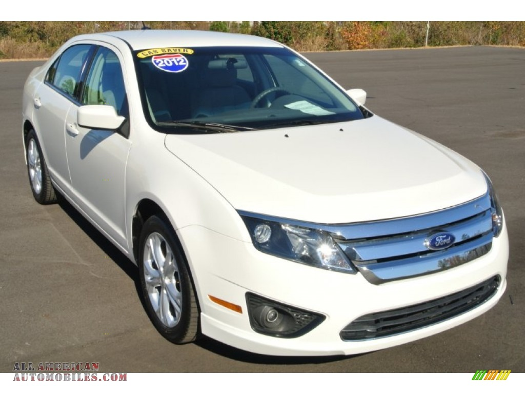 2012 ford fusion se v6 in white suede 290810 all american automobiles buy american cars. Black Bedroom Furniture Sets. Home Design Ideas