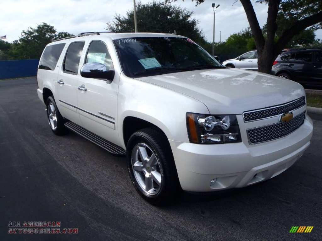 2014 chevrolet suburban ltz in white diamond tricoat 190437 all american automobiles buy. Black Bedroom Furniture Sets. Home Design Ideas