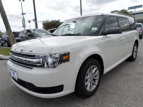 White Suede 2014 Ford Flex SE