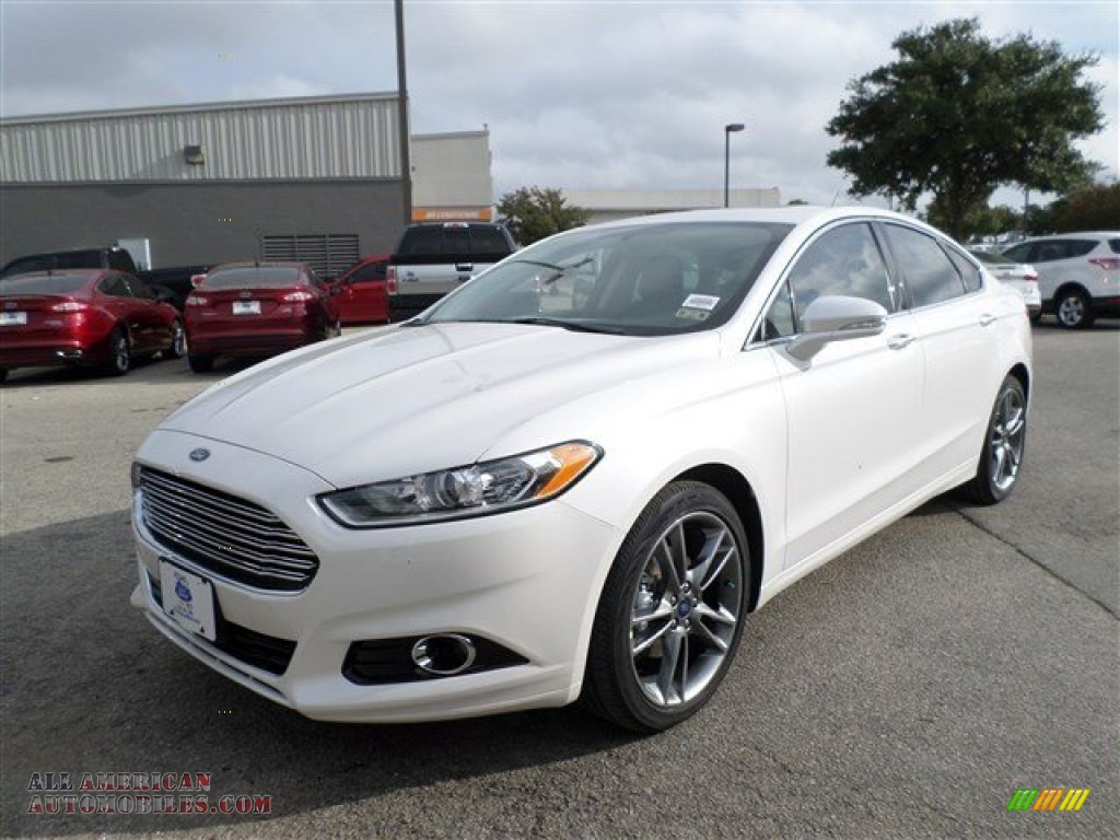 2014 ford fusion titanium in white platinum 201420 all american automobiles buy american. Black Bedroom Furniture Sets. Home Design Ideas
