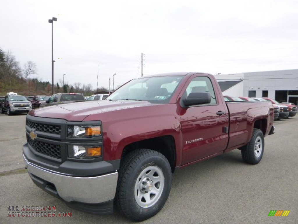 2014 chevrolet silverado 1500 wt regular cab 4x4 in deep ruby metallic 198011 all american. Black Bedroom Furniture Sets. Home Design Ideas