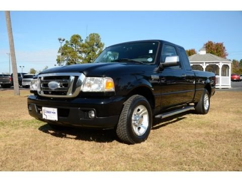 Black 2007 Ford Ranger XLT SuperCab
