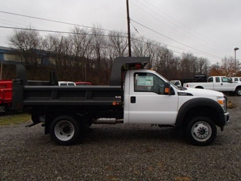 Oxford White 2014 Ford F450 Super Duty XL Regular Cab 4x4 Dump Truck