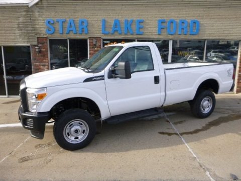 Oxford White 2014 Ford F250 Super Duty XL Regular Cab 4x4