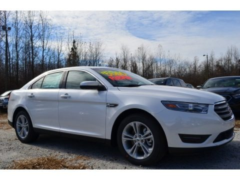 White Platinum 2014 Ford Taurus SEL