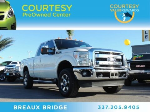 Oxford White 2011 Ford F250 Super Duty Lariat SuperCab 4x4