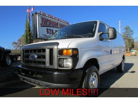 Oxford White 2010 Ford E Series Van E150 Commercial