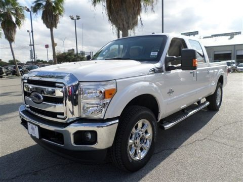 White Platinum Tri-Coat 2014 Ford F250 Super Duty Lariat Crew Cab 4x4