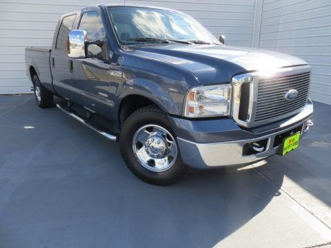 Medium Wedgewood Blue Metallic 2006 Ford F250 Super Duty XLT Crew Cab