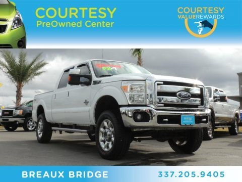 Oxford White 2011 Ford F250 Super Duty Lariat Crew Cab 4x4
