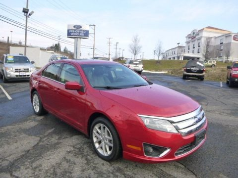 Red Candy Metallic 2012 Ford Fusion SEL V6 AWD