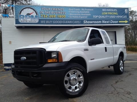 Oxford White 2006 Ford F250 Super Duty XL SuperCab 4x4