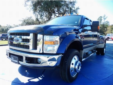 Dark Blue Pearl Metallic 2008 Ford F450 Super Duty Lariat Crew Cab 4x4 Dually