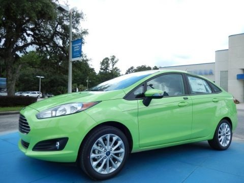 Green Envy 2014 Ford Fiesta SE Sedan