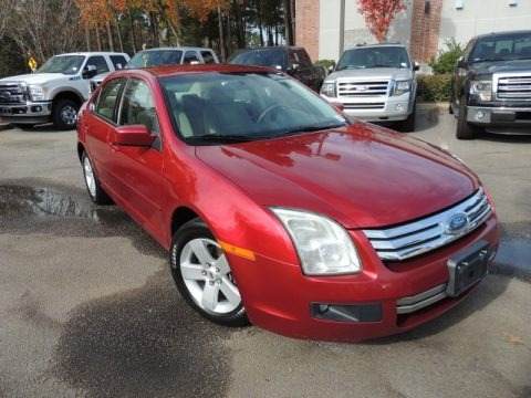 Redfire Metallic 2007 Ford Fusion SE