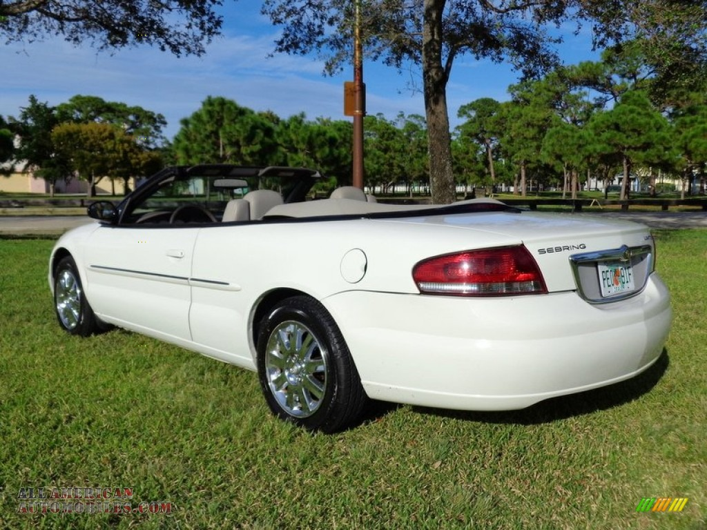 2006 chrysler sebring limited convertible in stone white. Black Bedroom Furniture Sets. Home Design Ideas