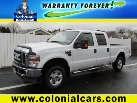 Oxford White 2010 Ford F250 Super Duty XLT Crew Cab 4x4
