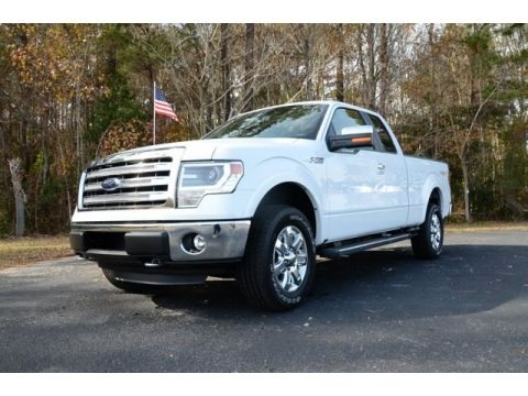 Oxford White 2013 Ford F150 Lariat SuperCab 4x4
