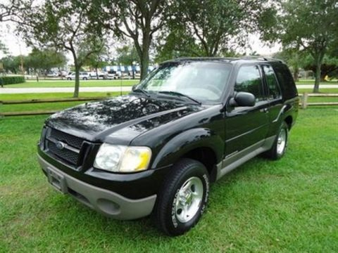 Black 2001 Ford Explorer Sport