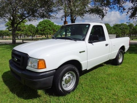 Oxford White 2005 Ford Ranger XL Regular Cab