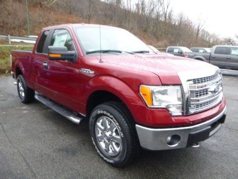 Ruby Red Metallic 2013 Ford F150 XLT SuperCab 4x4