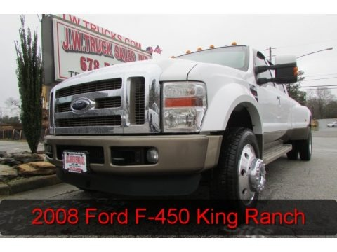 Oxford White 2008 Ford F450 Super Duty Lariat Crew Cab 4x4 Dually