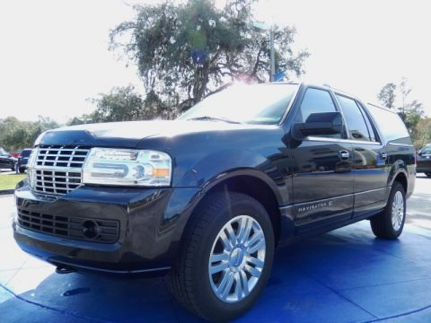 Tuxedo Black Metallic 2013 Lincoln Navigator L Monochrome Limited Edition 4x2