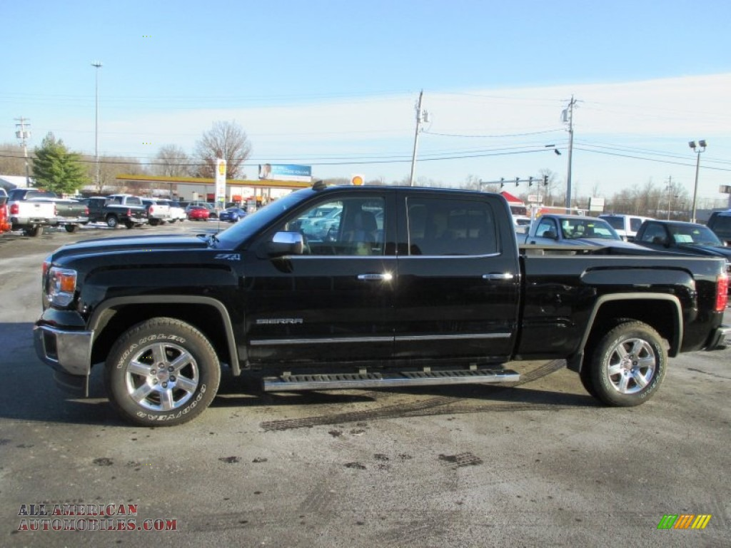2014 gmc sierra 1500 slt crew cab 4x4 in onyx black photo 4 103758 all american automobiles. Black Bedroom Furniture Sets. Home Design Ideas
