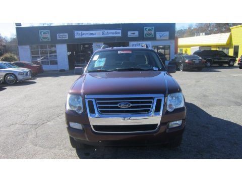 Dark Cherry Metallic 2007 Ford Explorer Sport Trac Limited