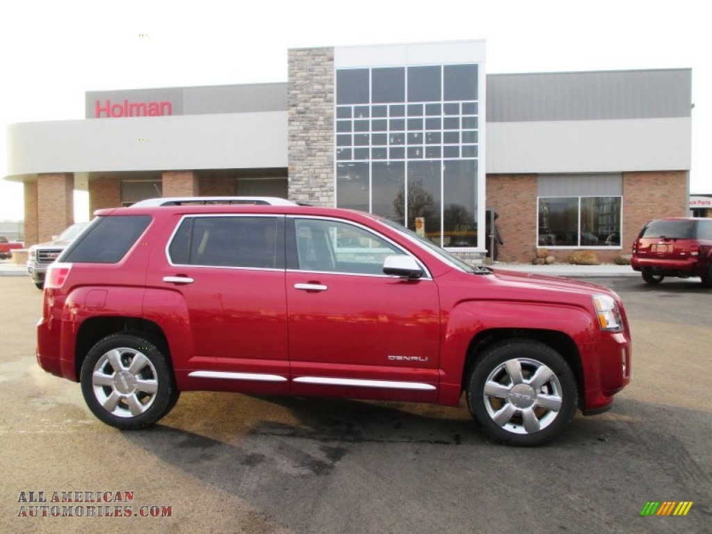 2014 gmc terrain denali awd in crystal red tintcoat 178511 all american automobiles buy. Black Bedroom Furniture Sets. Home Design Ideas