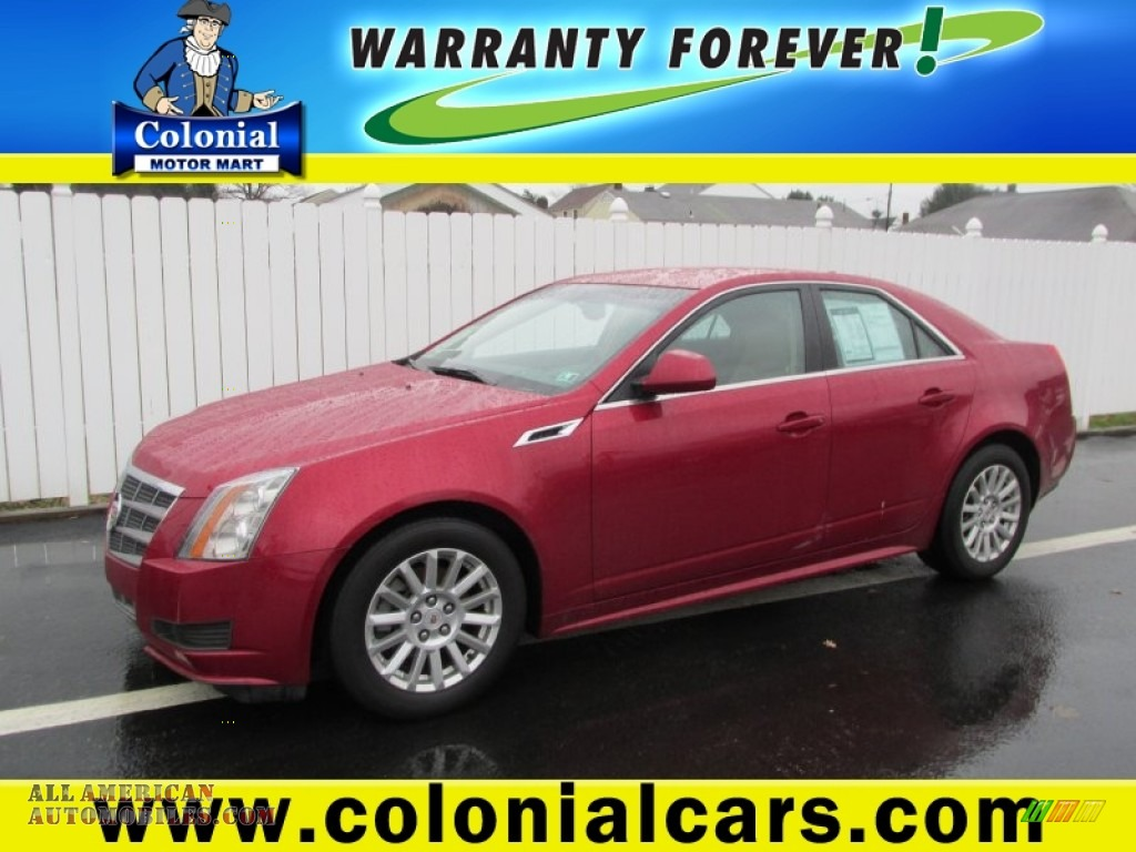 2011 cadillac cts 4 3 0 awd sedan in crystal red tintcoat for Colonial motors indiana pa
