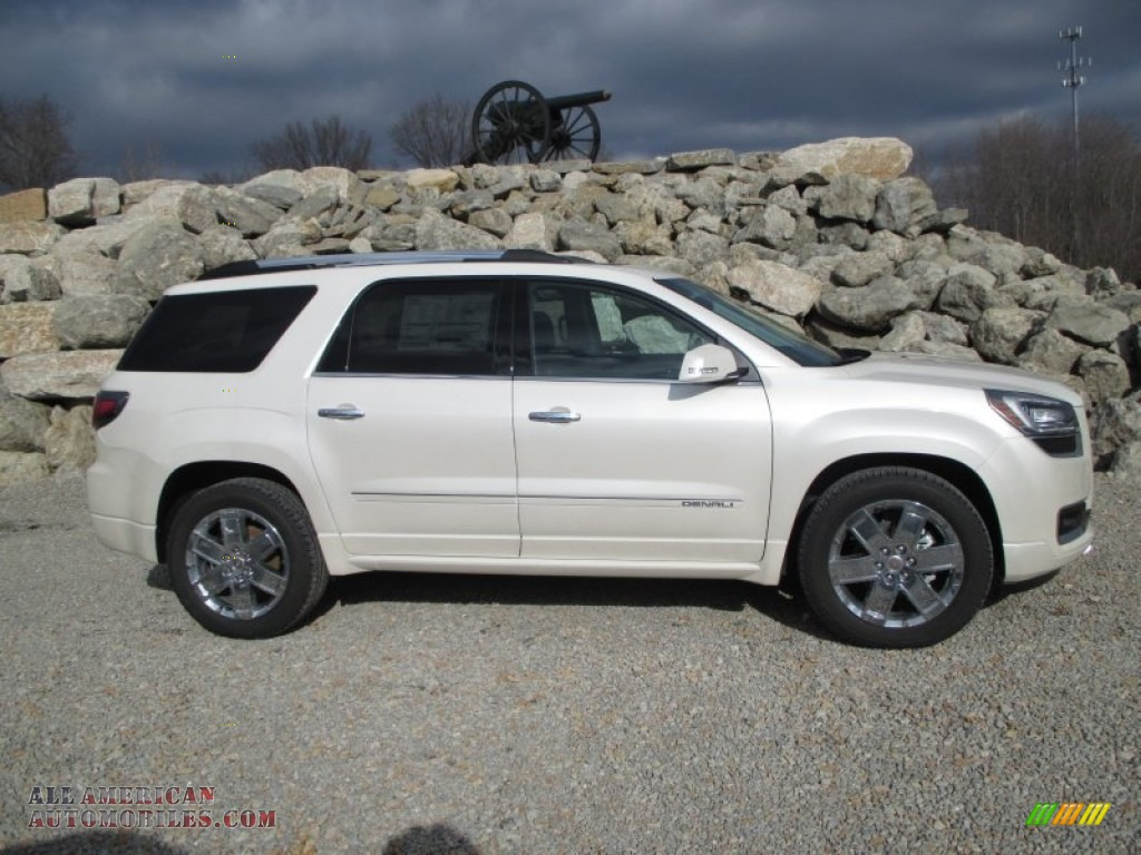 2014 gmc acadia denali awd in white diamond tricoat 245083 all american automobiles buy. Black Bedroom Furniture Sets. Home Design Ideas