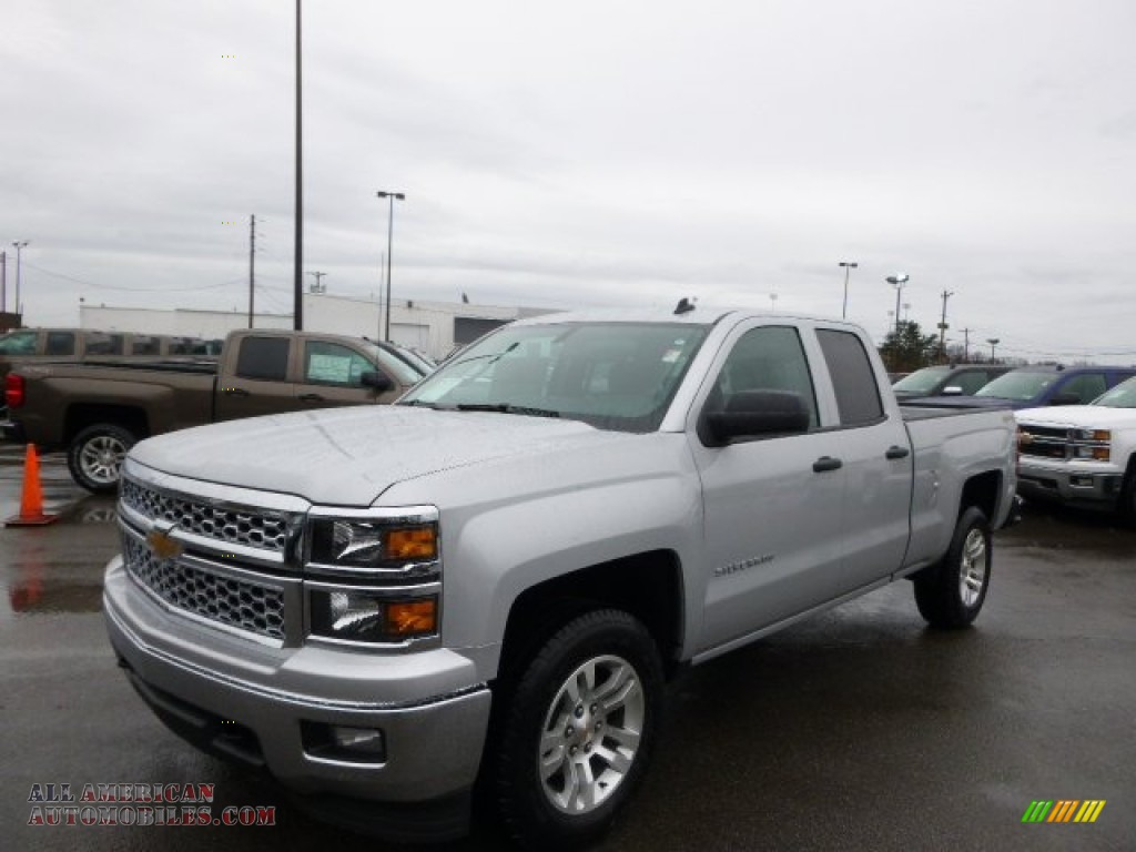 2014 chevrolet silverado 1500 lt double cab 4x4 in silver ice metallic 231672 all american. Black Bedroom Furniture Sets. Home Design Ideas