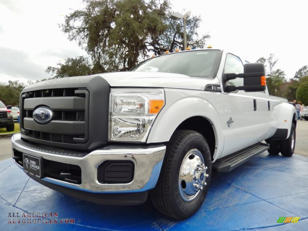 2014 ford f350 super duty xl crew cab dually in oxford white b22541 all american automobiles. Black Bedroom Furniture Sets. Home Design Ideas