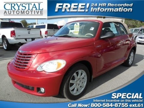 Inferno Red Crystal Pearl 2006 Chrysler PT Cruiser Touring Convertible