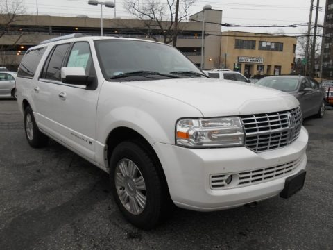 White Platinum Tri-Coat 2011 Lincoln Navigator L 4x4