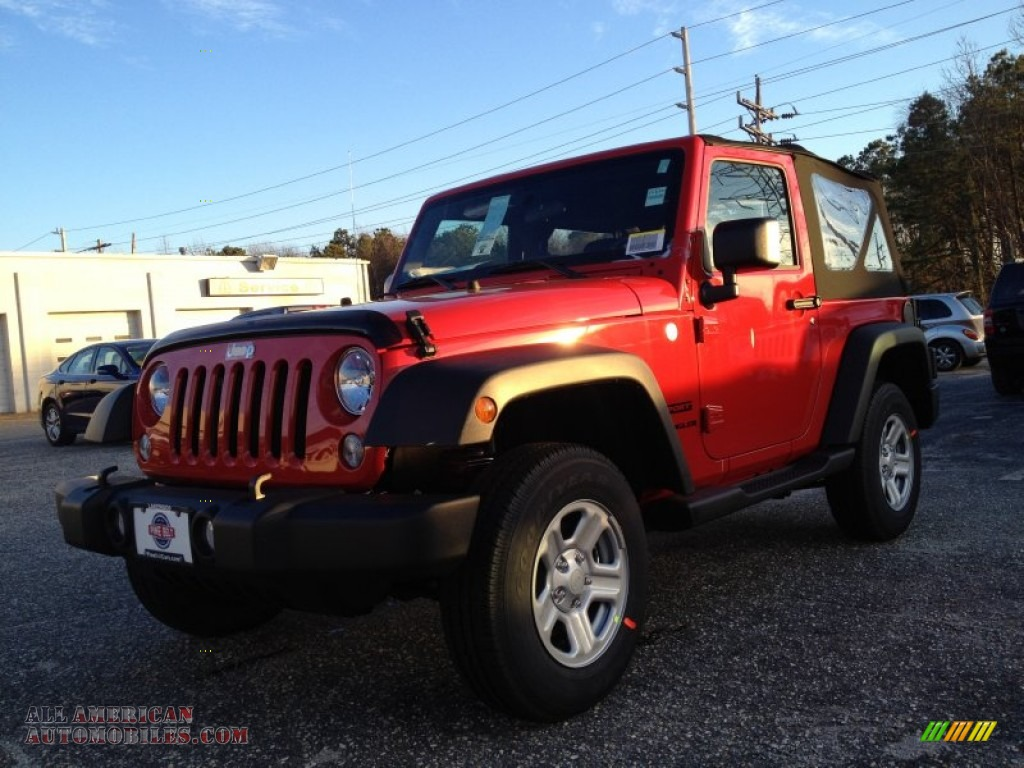 2014 Jeep Wrangler Sport 4x4 in Flame Red - 192424 | All ...