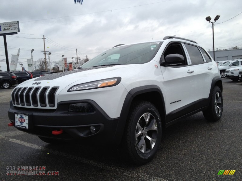 Ron Lewis Chrysler Dodge Jeep Ram Waynesburg >> 2014 Jeep Cherokee Trailhawk 4x4 in Bright White - 109736 | All American Automobiles - Buy ...