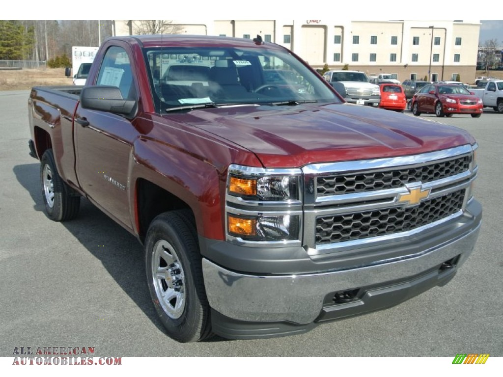 2014 chevrolet silverado 1500 wt regular cab 4x4 in deep ruby metallic 227292 all american. Black Bedroom Furniture Sets. Home Design Ideas