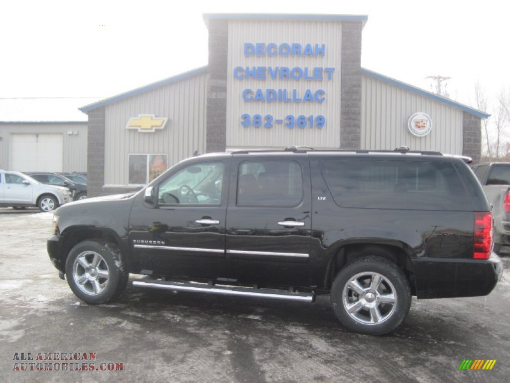 2014 chevrolet suburban ltz 4x4 in black 206552 all american automobiles buy american cars. Black Bedroom Furniture Sets. Home Design Ideas
