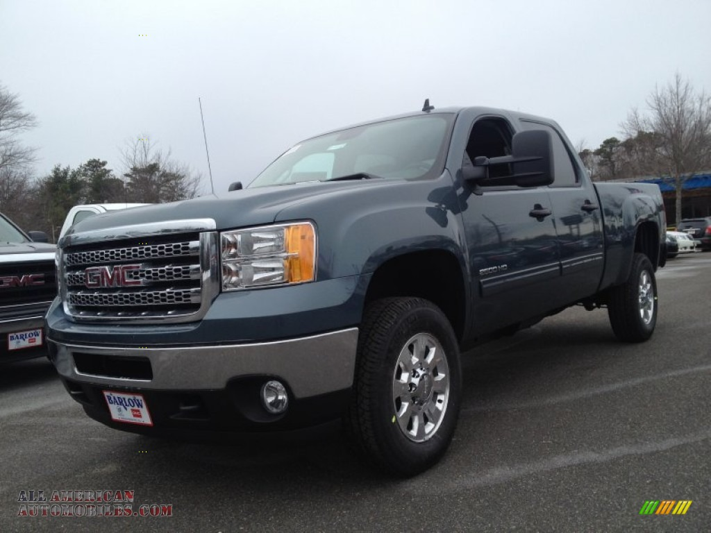 2014 gmc sierra 2500hd sle crew cab 4x4 in stealth gray metallic 189440 all american. Black Bedroom Furniture Sets. Home Design Ideas