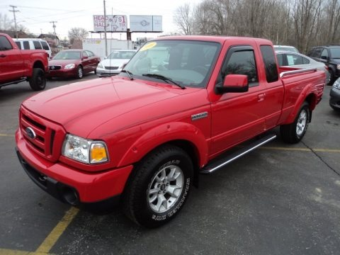 Torch Red 2010 Ford Ranger Sport SuperCab 4x4