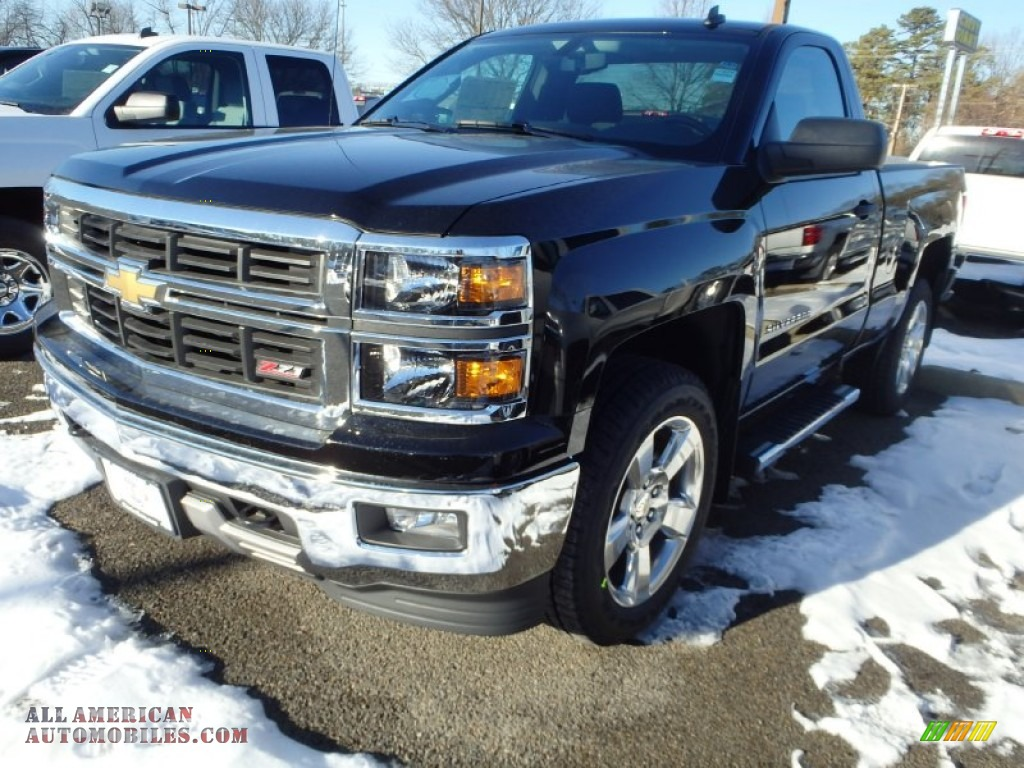 2014 chevrolet silverado 1500 lt z71 regular cab 4x4 in black 199971 all american. Black Bedroom Furniture Sets. Home Design Ideas