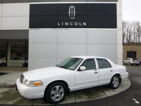 Vibrant White 2011 Ford Crown Victoria LX