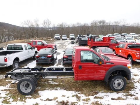 Vermillion Red 2014 Ford F550 Super Duty XL Regular Cab 4x4 Chassis